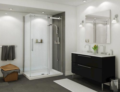 48 Quot Halo Corner Shower Kit With Door And Base At Menards