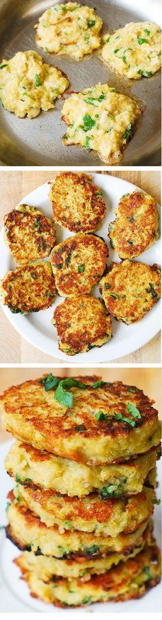 Spaghetti Squash, Quinoa and Parmesan Fritters | healthy recipe ideas @Healthy Recipes |