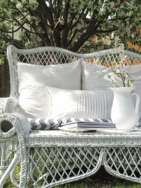 white wicker patio furniture 25+ best ideas about White Wicker on Pinterest | White