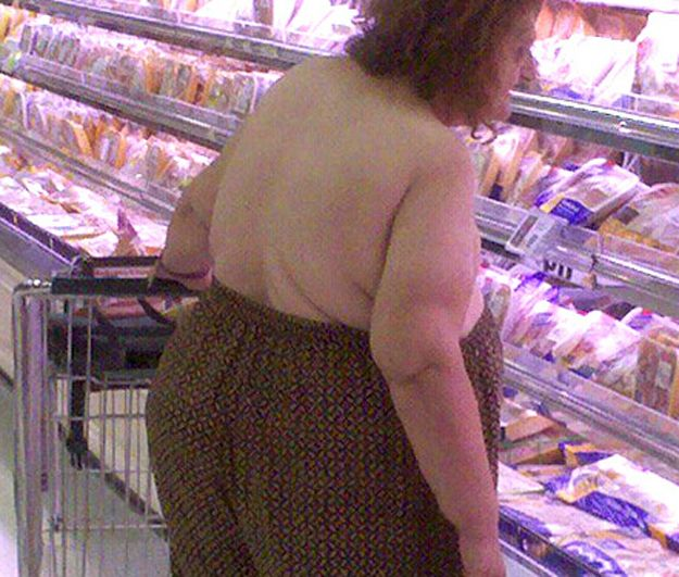 This woman who tucked her tatas into her pants. | 42 People You Wont Believe Actually Exist