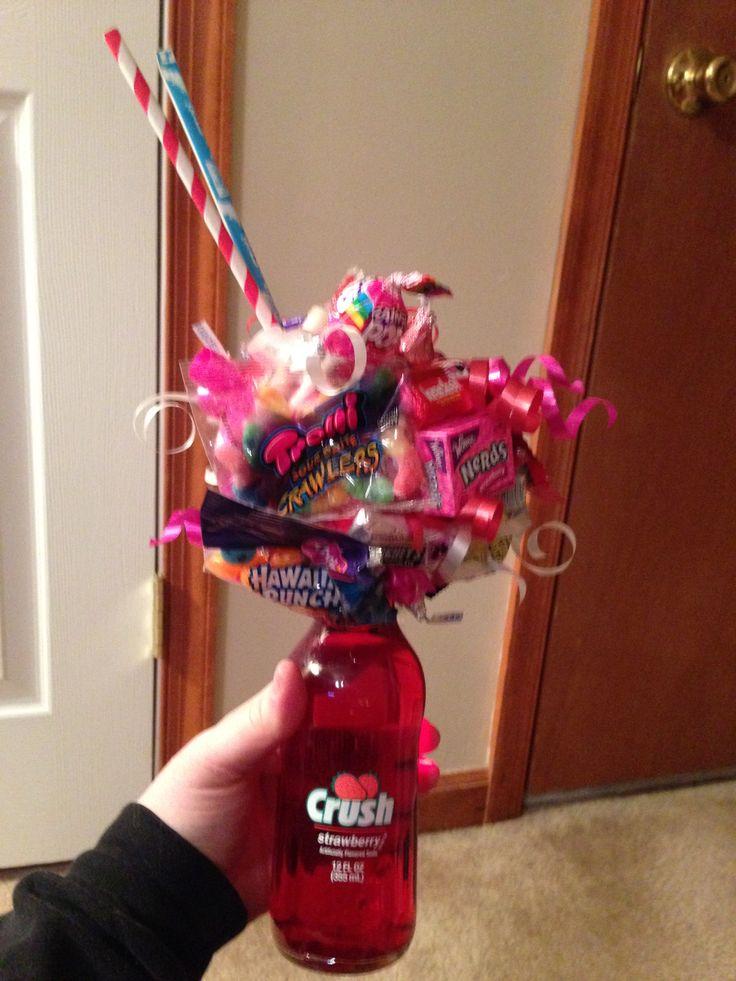 Crush Soda Candy Bouquet Valentines Day Indoor Picnic Fun DIY Valentinesday Pinterest