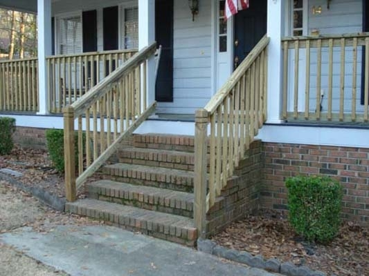 23 Best Images About Deck Railing Ideas On Pinterest   Pressure Treated Stair Railing