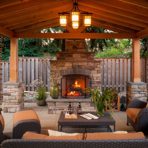 outdoor patio rooms with fireplace 17 Best ideas about Outdoor Fireplaces on Pinterest