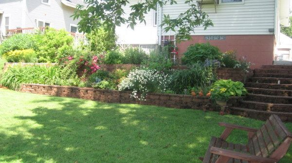 14 best images about Tiered gardens on Pinterest | Small ... on Tiered Yard Ideas  id=58280