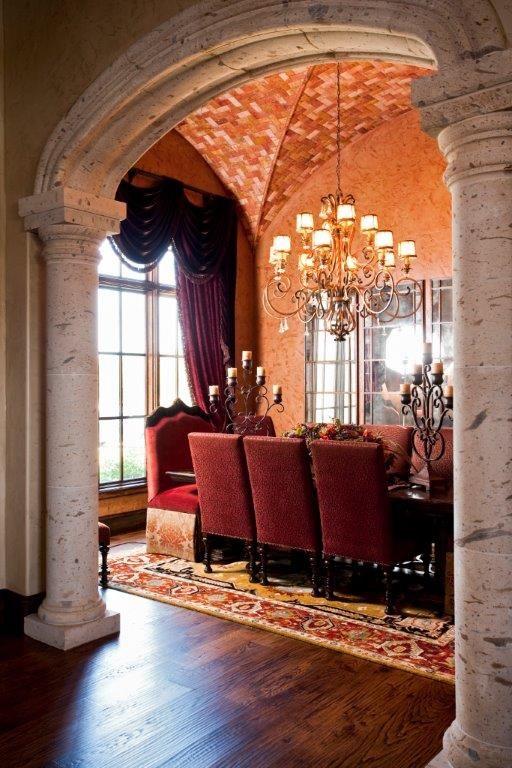 Formal Dining Room In Mediterranean Style Home Viewed