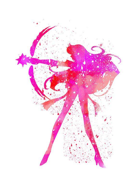 Sailor Mars, Sailor Moon fan Art, Watercolor alternative ...
