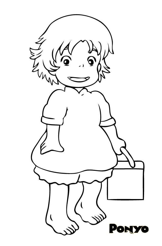 53 best images about studio ghibli coloring pages on