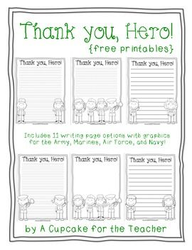 Free Printable Writing Paper To Thank Military Members