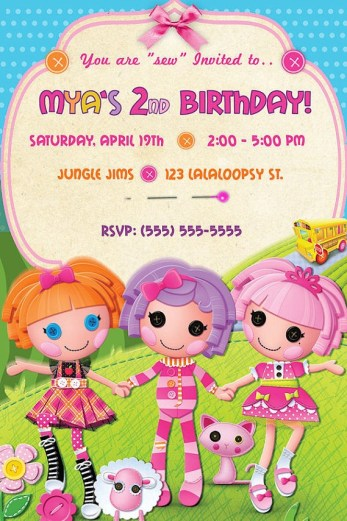 Lalaloopsy Birthday Invitation  DIY Print by PixelPerfectParty, $10.00