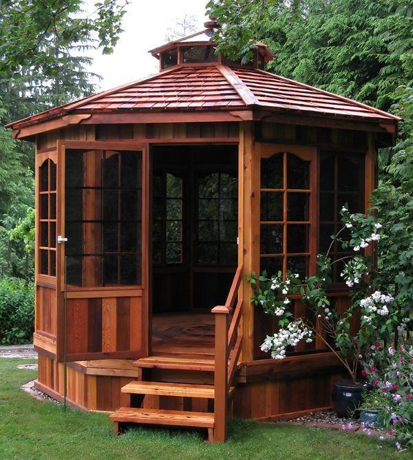 10 Best Ideas About Enclosed Gazebo On Pinterest Garden