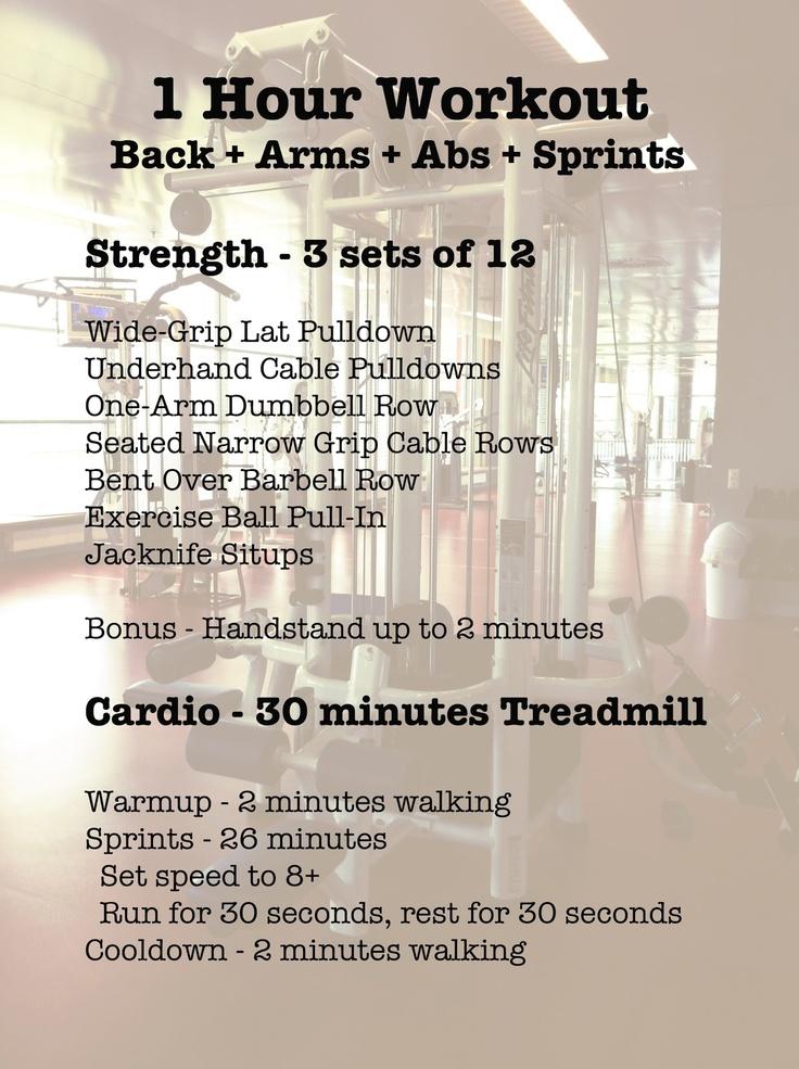 Best 25 1 Hour Workout Ideas On Pinterest Treadmill