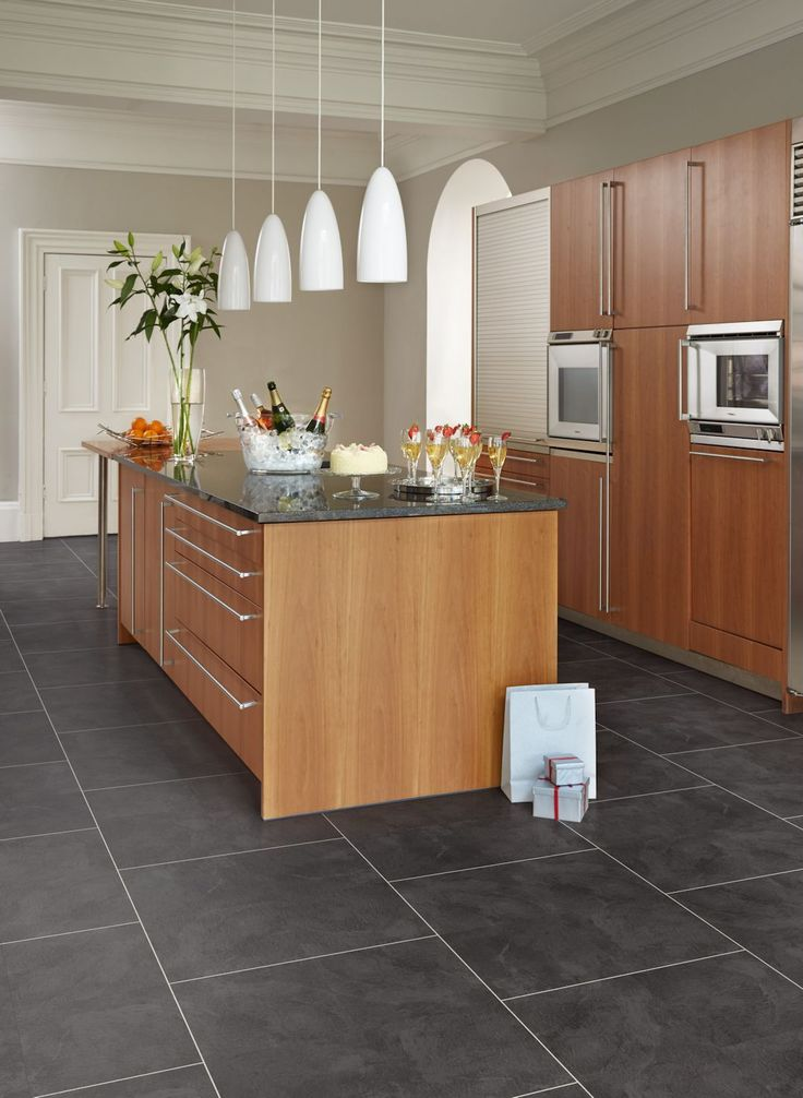Luxury Vinyl Tile Kitchen Floor