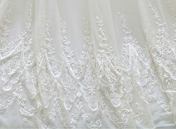 White Bridal Lace Fabric By The Yard Wedding Dress By Bloominglace 1999 Briannes Dress