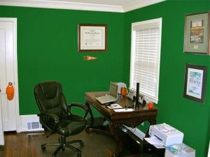 dark green painted office color my walls pinterest on best wall colors for offices id=68670