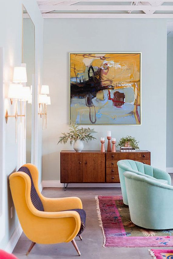 hand made abstract art acrylic painting large canvas art on modern acrylic paintings for living room id=88521