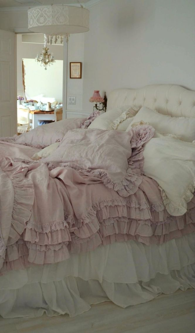 Country Chic Bedding Bedroom Whitewashed Shabby French Rustic Swedish