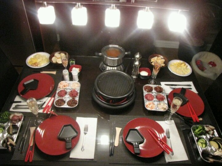 Table Setting For Valentines Day Fondue And Raclette
