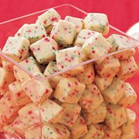 Christmas Shortbread Bites – so addictive!    1 1/4 cup(s) all-purpose flour  3 tablespoon(s) sugar  1/2 cup(s) (1 stick) butter