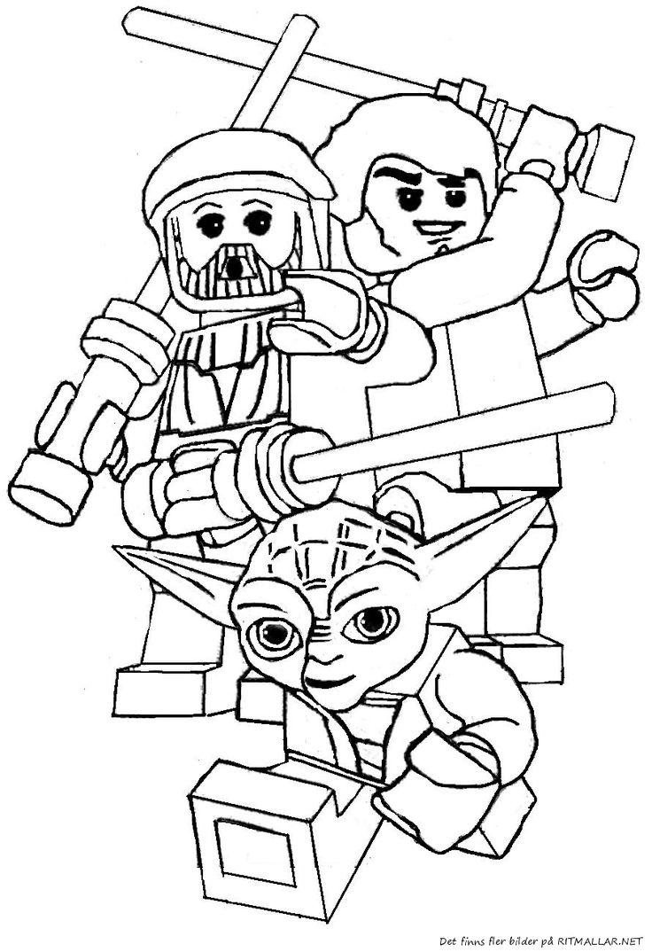 färglägg lego star wars yoda  ritmallar.  lego coloring
