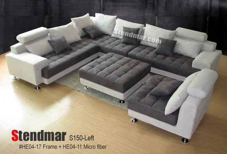 5pc Modern 2 Tone Microfiber Sectional Sofa S150LG House Pinterest Modern