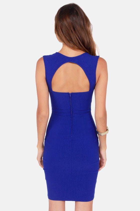 Visual Impact Royal Blue Dress