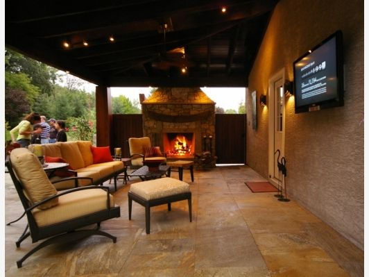 17 Best images about Outdoor Man Cave on Pinterest ... on Man Cave Patio Ideas  id=62751