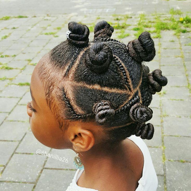 Bantu Knots On Little Girls Shanillias Hairstyles