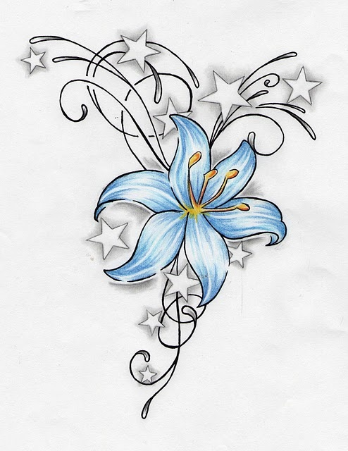This is pretty much my tattoo, except mine is a daisy for my cousin that has pas