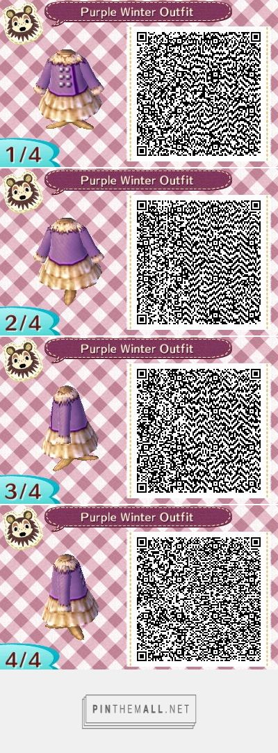Image of: Winter Outfits Winter Animal Crossing Codes Qr