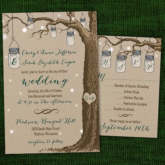 Cheap Mason Jar Invitations