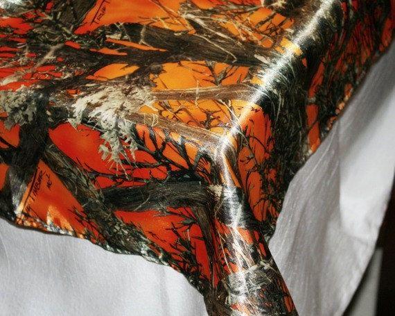 Orange Camouflage Table Cloth Orange Camo Table By