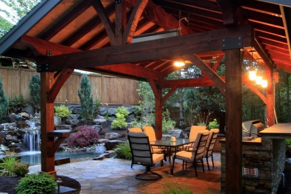 cover patio with outdoor kitchen 1000+ images about Patio Cover Outdoor Kitchen on