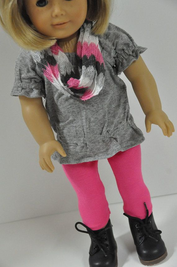 American Girl Doll Clothes Trendy Gray Peasant Tunic Top