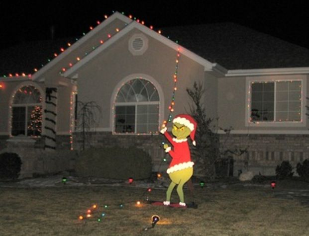 Grinch Who Stole Christmas Lights Lawn Decoration