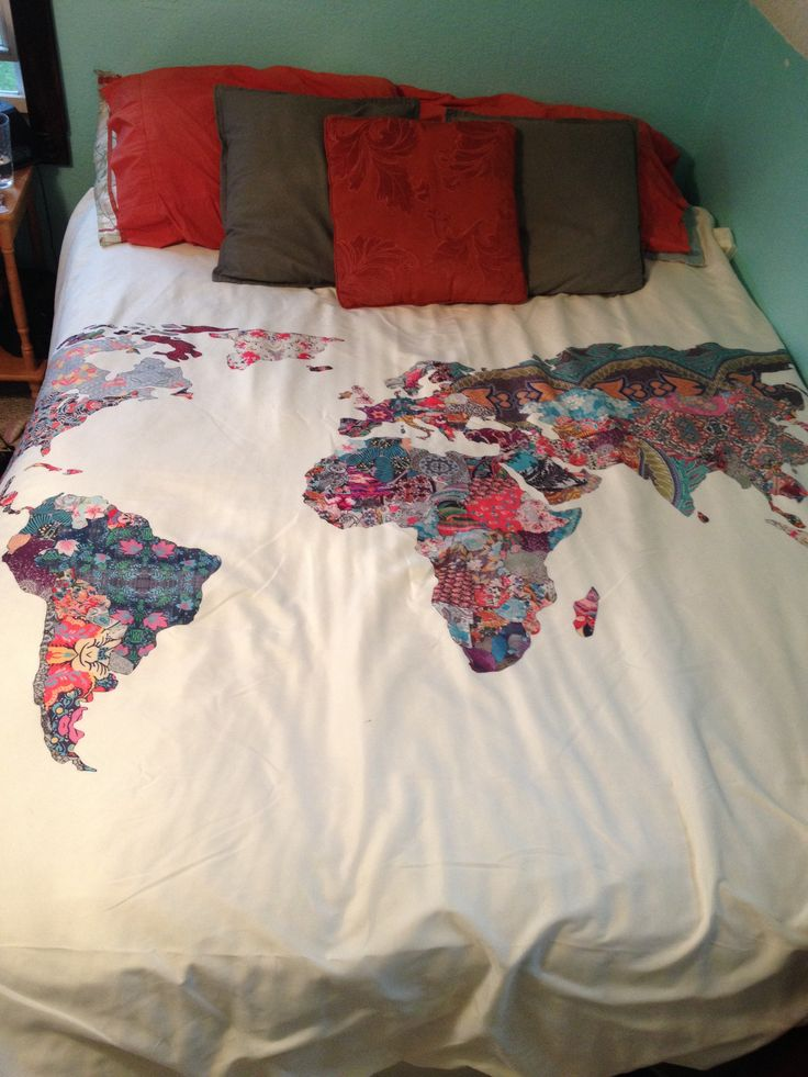 World Map Bedding From Urban Outfitters My Future Home