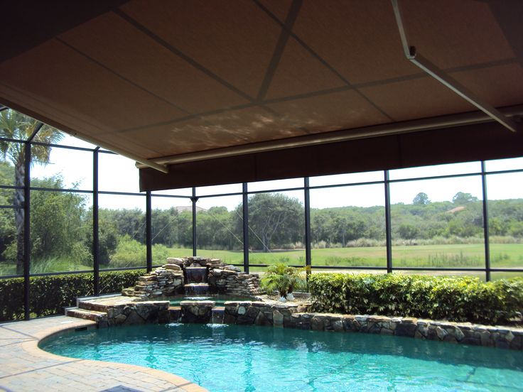 Retractable Awning Within Screened Pool Enclosure Google