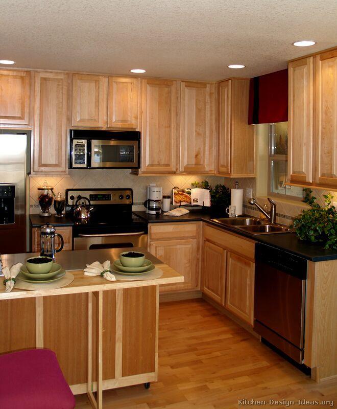17 Best images about kitchen designs on Pinterest | Oak ... on Maple Cabinets Kitchen Ideas  id=35859