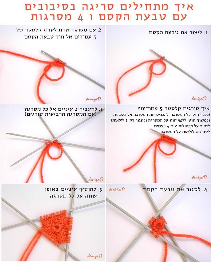 How to start knitting in the round with a magic loop and a
