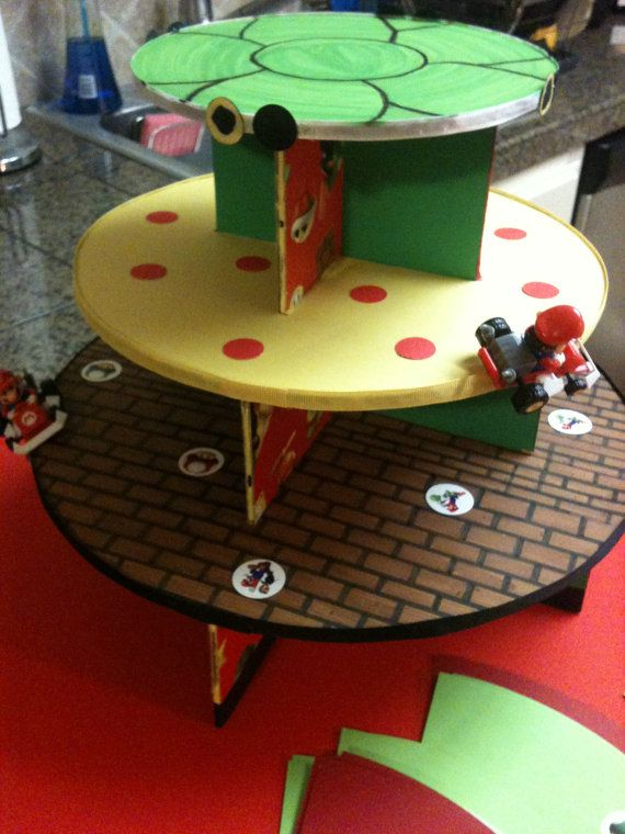 Super Mario Cupcake Stand Medium On Etsy 50 00 Super