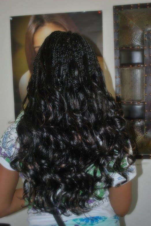 Single Braids With Curly Ends Natural Hair Styles Braids