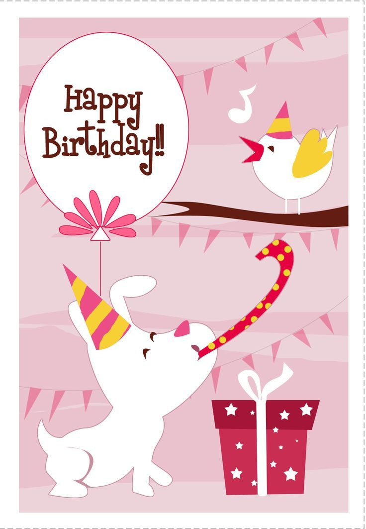 Printable Happy Birthday Cards Dogs It
