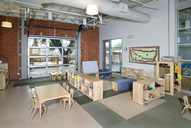 Classroom With Garage Door To Playground CDC Building
