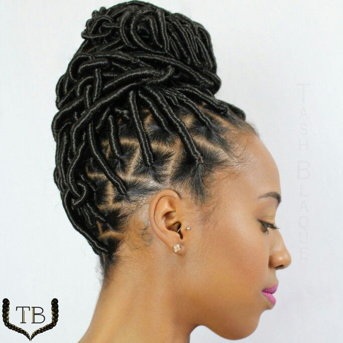Stylist Brooklyn NY Protective Style Faux Locs Updo