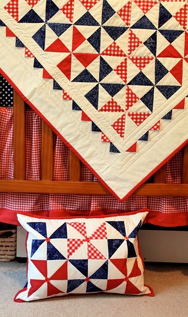 Deb---my bff cousin,  if you see this, can you make one like this?  Bug wants to do a red white and blue baby room...