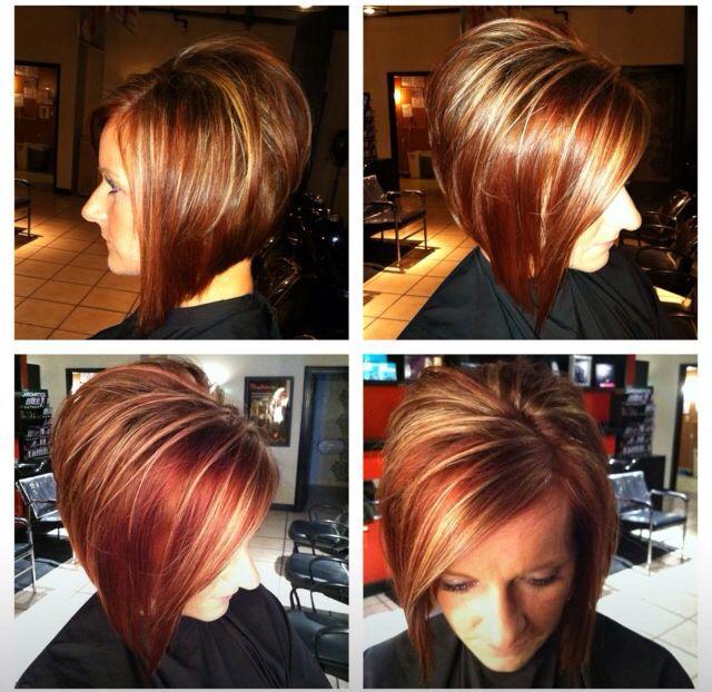 Short  hair  align bob stacked fall hair  color  Hair