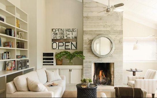 Asymmetrical Fireplace Wall Living Room Ideas