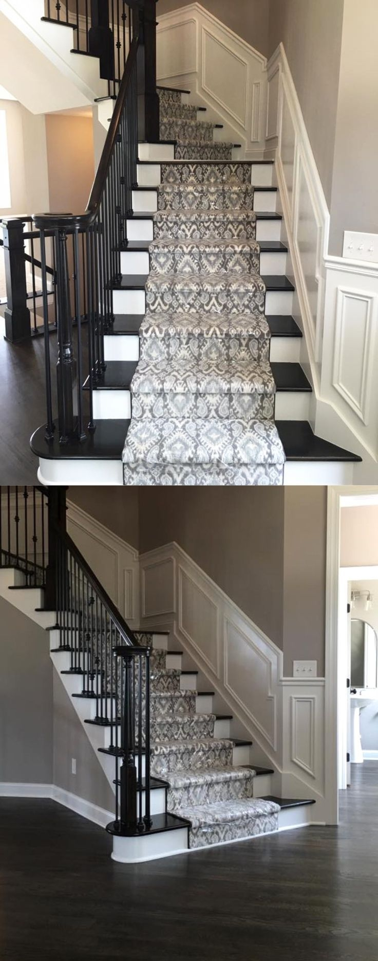 396 Best Images About Stair Runners On Pinterest | Carpet On Hardwood Stairs