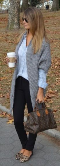 I would wear this all the time through Autumn/Winter. Just a perfect casual outfit!: