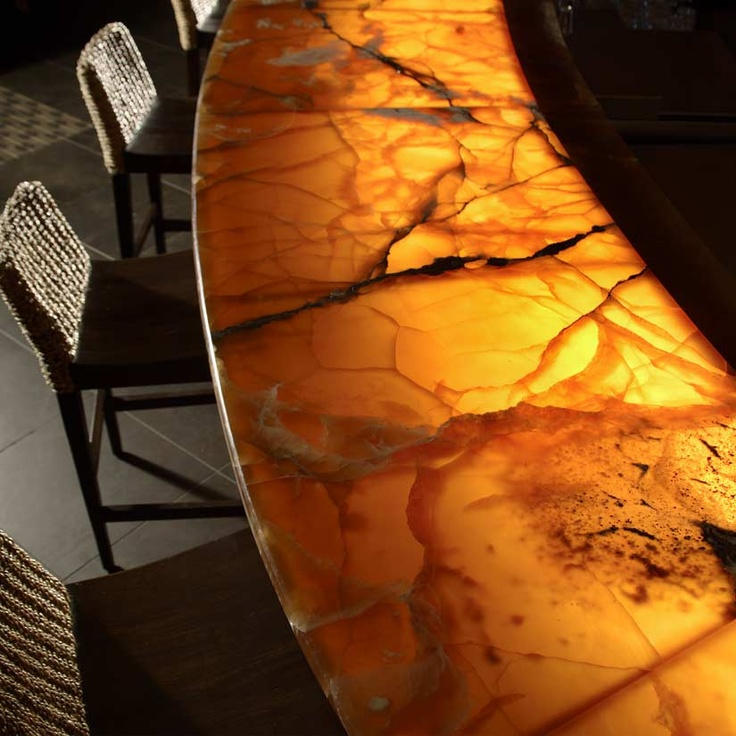 Slab Granite Countertops Onyx Lighted Countertop