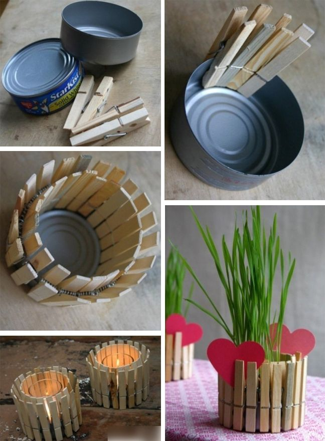 DIY Mothers Day Present Recycled Tin Can Candle Holder Dads This Would Be Soo Easy To Do